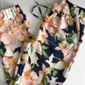 J. Crew Floral Joggers (Dressy or Casual)